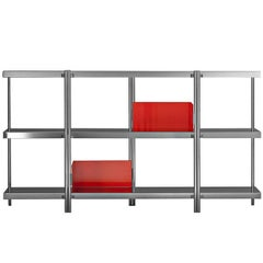 """""""Zigzag"""" Mirror Finished Steel Low Bookcase by Konstantin Grcic, Driade"""