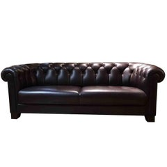 """Sofa """"Cambridge"""" by Manufacturer Sinn in Leather Wood and Metal"""