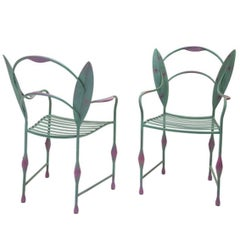 Andrea Branzi, Two Wrought Iron Chairs, Prototype, Italy