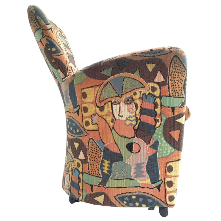 'Amphora' Armchair by Frans Schrofer & Artist Clemens Briels for Leolux , 1995 For Sale