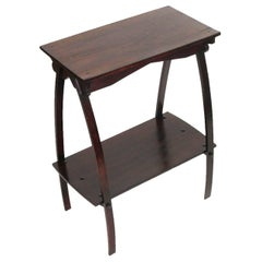 1920s Rustic Country Art Deco Console Étagère Side Table in Walnut Restored