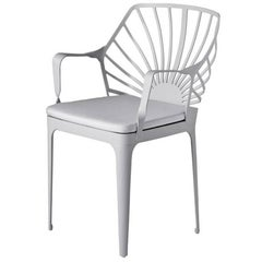 """""""Sunrise"""" White Painted Aluminum Easy Chair by L. and R. Palomba for Driade"""