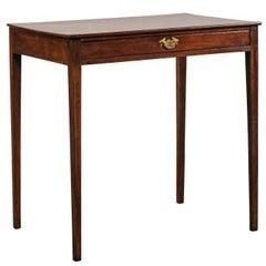 English Regency One Drawer Mahogany Writing Side Table, circa 1780-1820