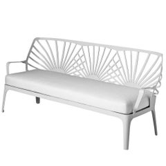 """""""Sunrise"""" White Painted Aluminum Sofa Designed by L. and R. Palomba for Driade"""