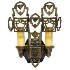 Art Deco Double Candelabra Sconces (S/2)
