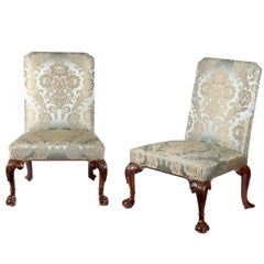 Pair of George II Carved Walnut Side Chairs Attributed to William Hallet