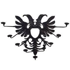 Spanish Double-Headed Eagle Insignia Iron Hat Rack