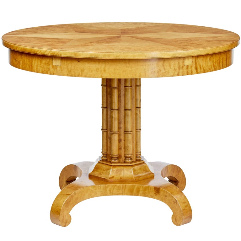 1920s Swedish Birch Centre Table