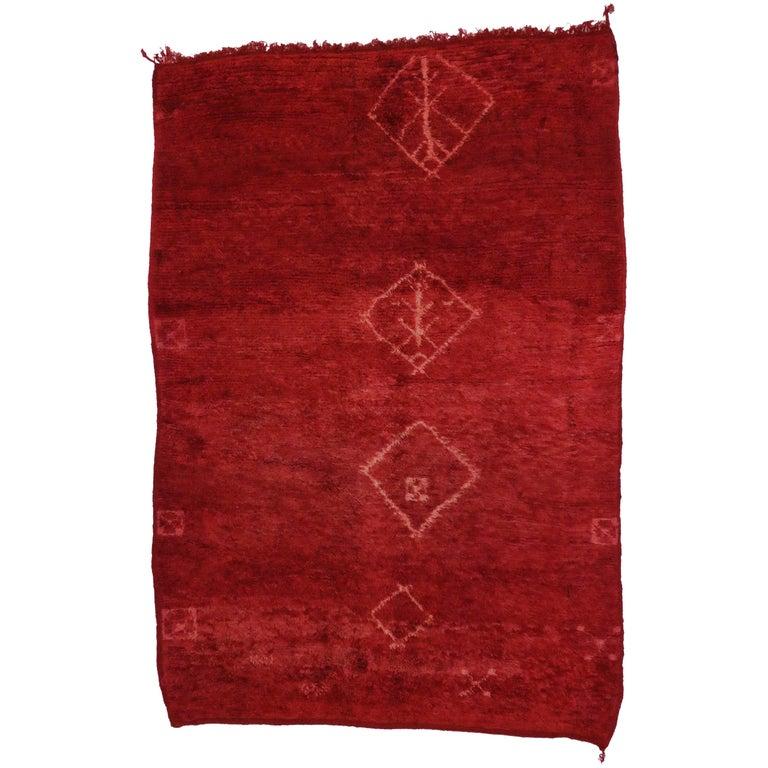 Vintage Moroccan Area Rug For Sale At 1stdibs: Vintage Berber Red Moroccan Rug For Sale At 1stdibs