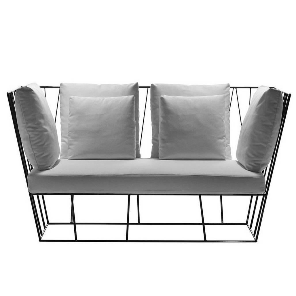 """""""Herve'"""" Outdoor Two-Seat Sofa Designed by Lievore Altherr for Driade"""