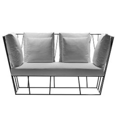 """Herve'"" Outdoor Two-Seat Sofa Designed by Lievore Altherr for Driade"