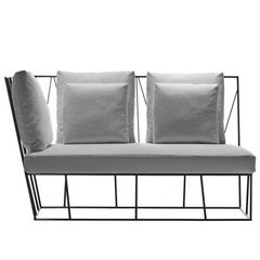 """Herve'"" Two-Seat Right/Left Terminal Sofa by Lievore Altherr for Driade"