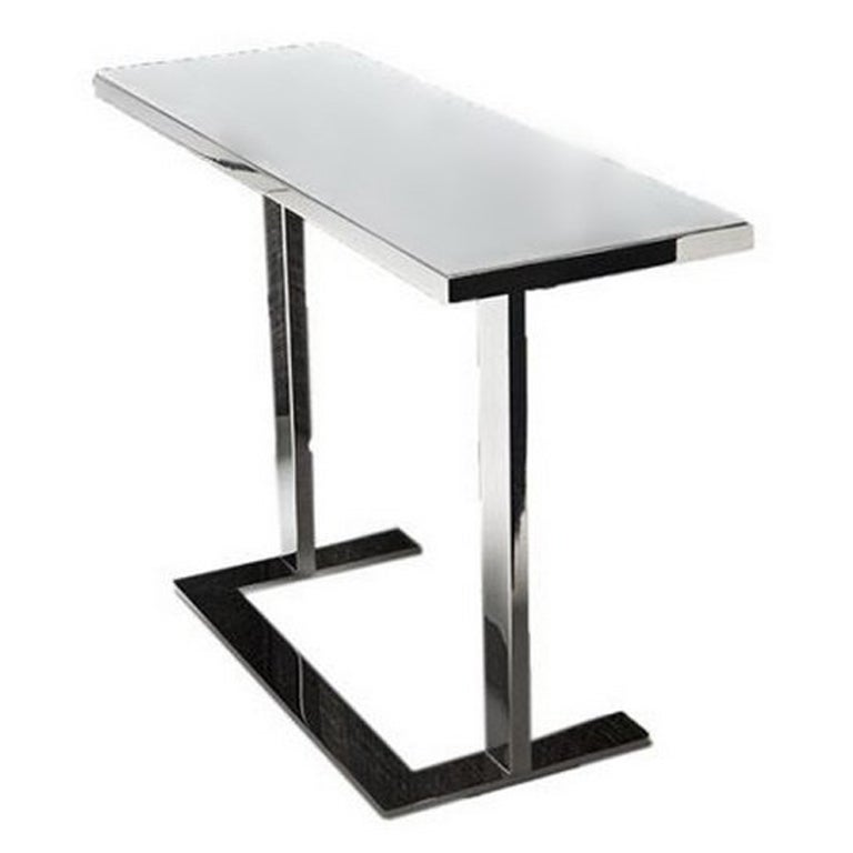 """""""Wow"""" White Painted Glass Top Side Table Designed by Philippe Starck for Driade"""