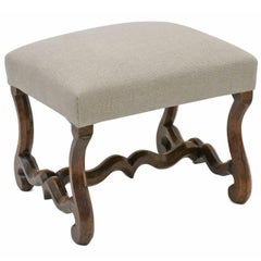 "Early 19th Century French ""Os de Mouton"" Walnut Bench"