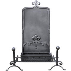 19th Century Wrought Iron Fire Grate