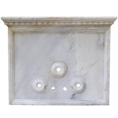 18th Century Carved Carrara Marble Wall Fountain