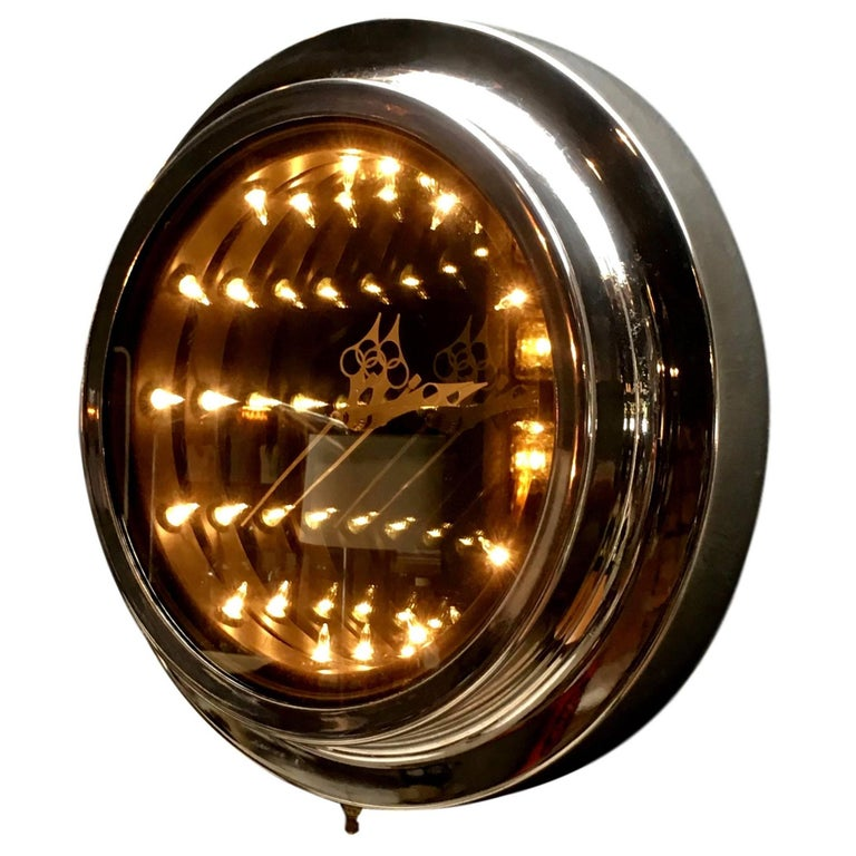 Vintage Infinity Mirror Clock For Sale At 1stdibs