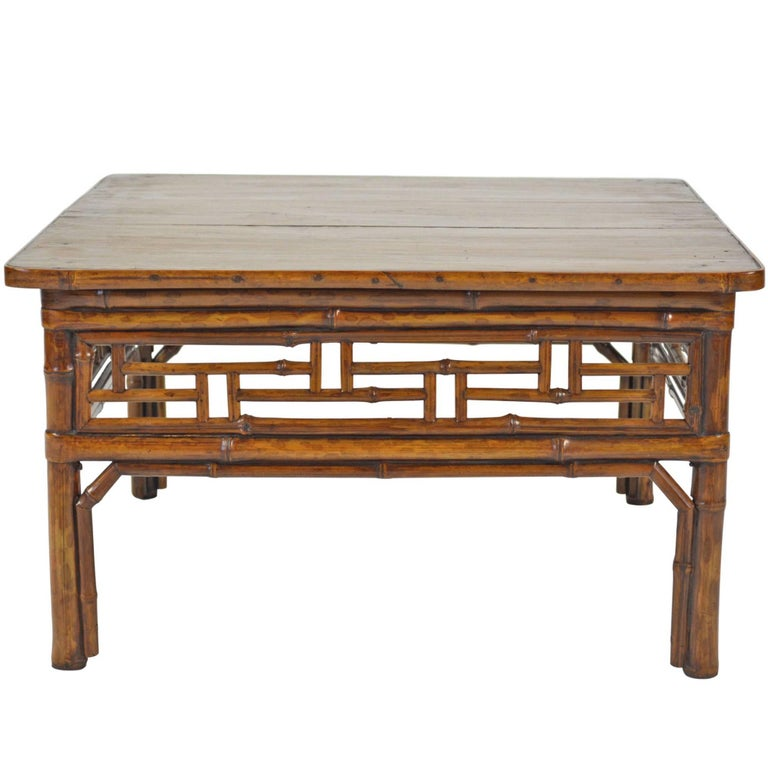 Chinese Low Bamboo Table 1