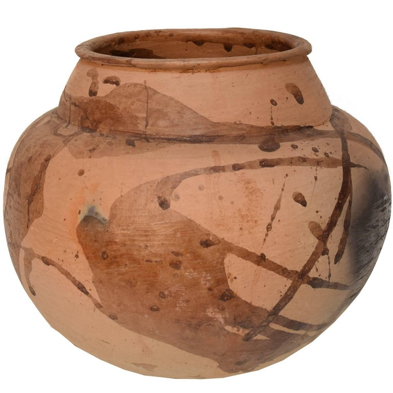 Chinese Ovoid Earthenware Storage Vessel For Sale