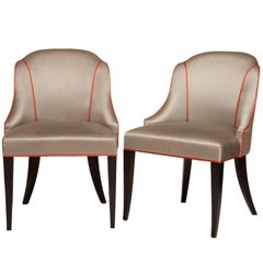 Pair of Art Deco Chairs from ITV Set the Halcyon