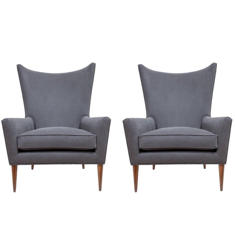 Pair of Morton Curved Back Wing Chairs
