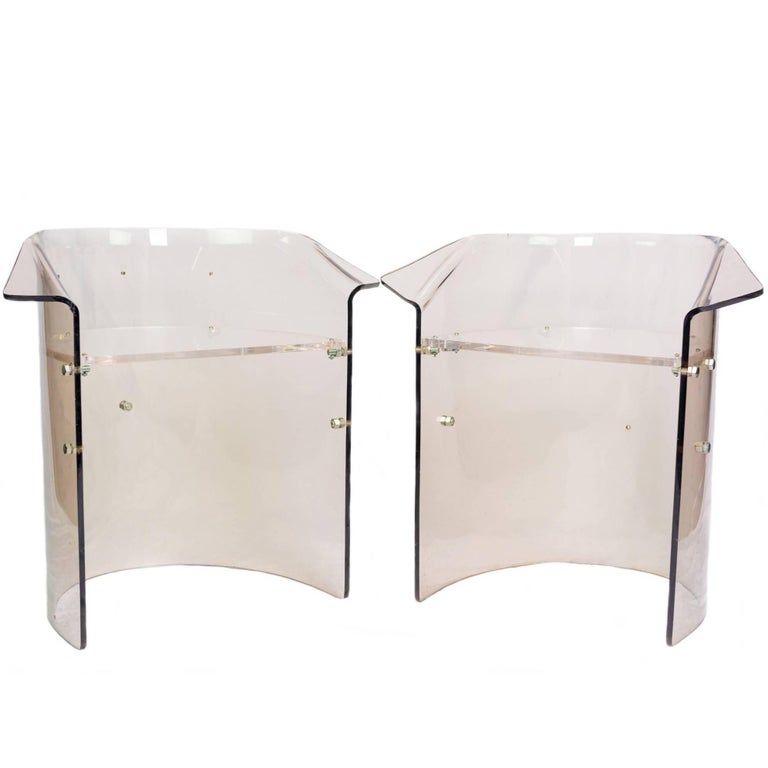 Set of Five Mid-Century Modern Lucite Chairs