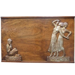 Large Art Deco Panel by Rowley Galleries