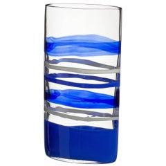 Arco Carlo Moretti Contemporary Murano Mouth Blown Glass Vase