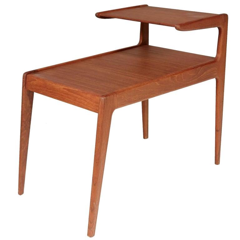 Danish Teak Two-Tier Side Table by Kurt Ostervig, 1960s