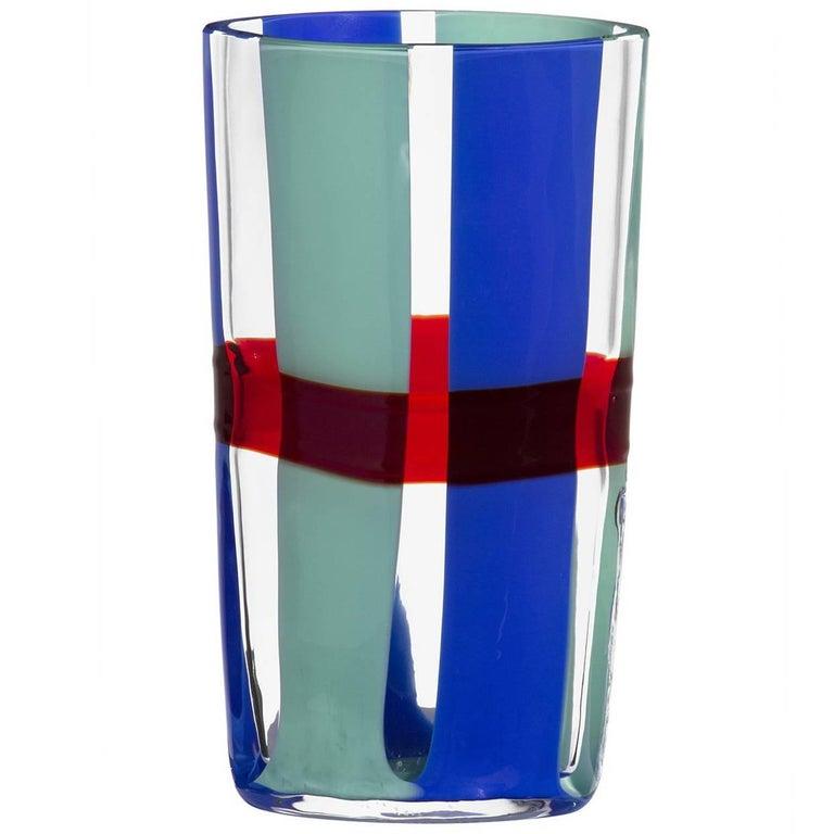 Almor Carlo Moretti Contemporary Mouth Blown Murano Glass Vase