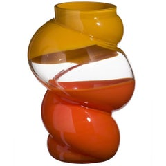 Aster Carlo Moretti Contemporary Mouth Blown Murano Glass Vase