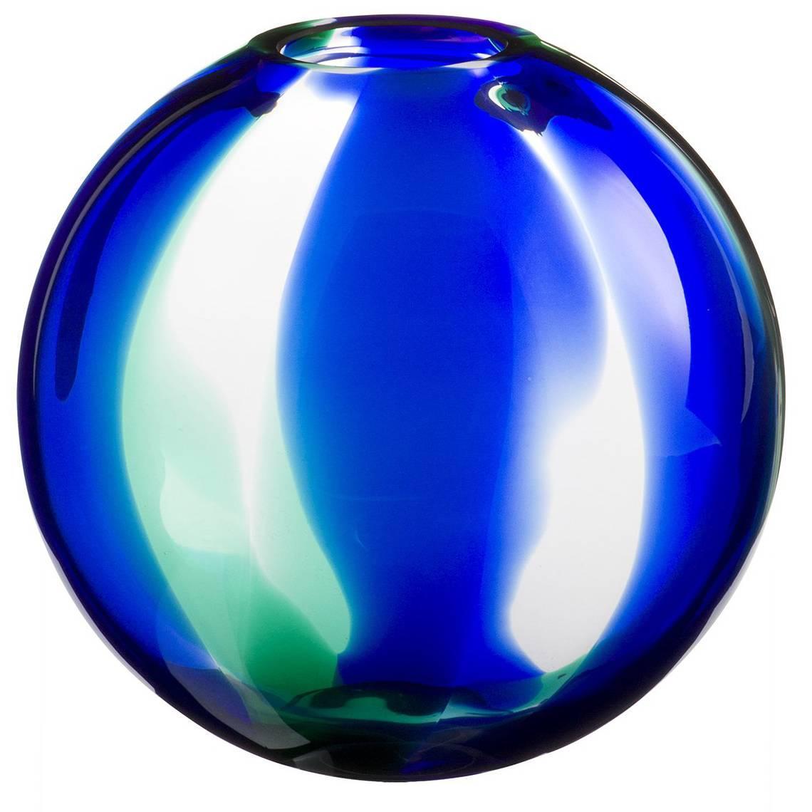 Atria Carlo Moretti Contemporary Mouth Blown Murano Glass Vase