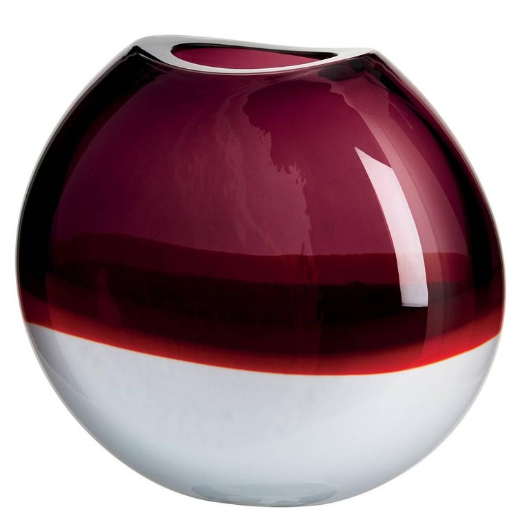 Sonne Carlo Moretti Murano Contemporary Mouth Blown Glass Vase For Sale