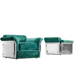 Vittorio Introini Set of Two Rare 'Larissa' Lounge Chairs for Saporiti