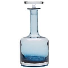 Vintage Wedgwood Blue Glass Decanter, circa 1969