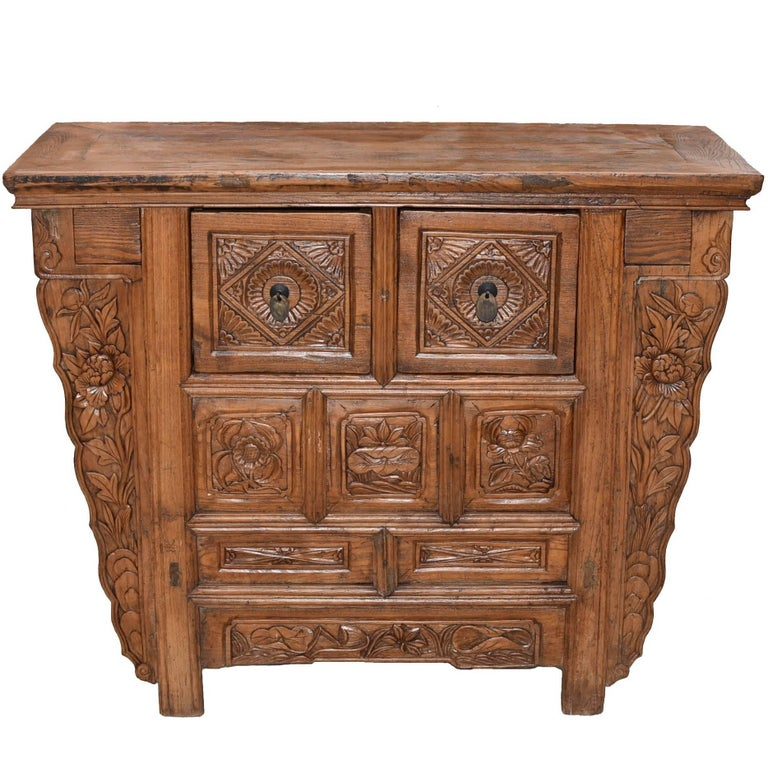 19th Century Chinese Country Chest with Secret Drawers For Sale