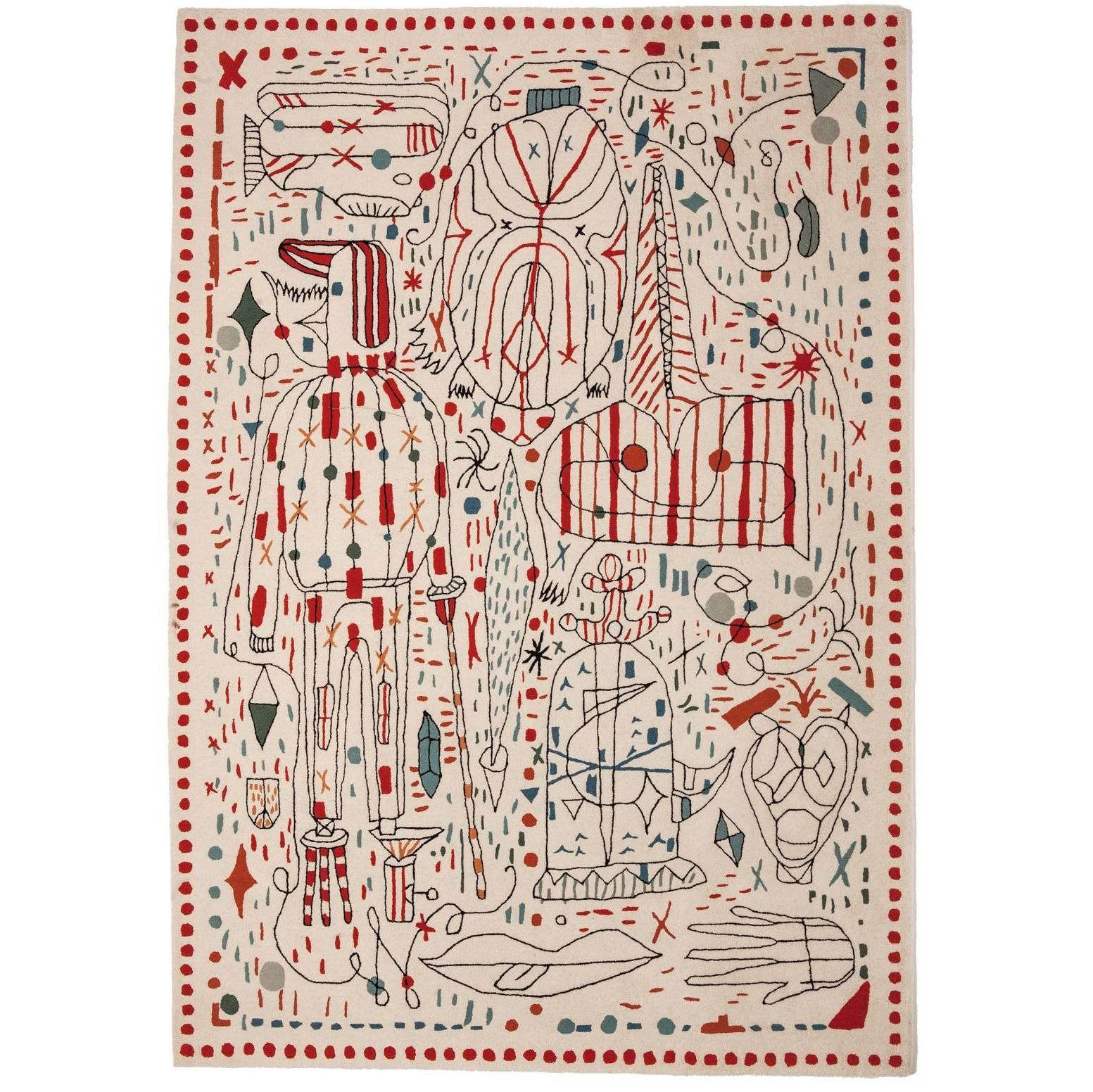 Contemporary Hayon x Nani Hand-Tufted Wool Area Rug by Jaime Hayon Medium
