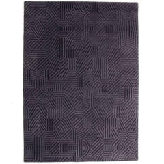 African Pattern Three Area Rug in Hand-Tufted Wool by Milton Glaser Large