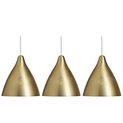 Lisa Johansson-Pape Brass '270' Perforated Metal Pendants
