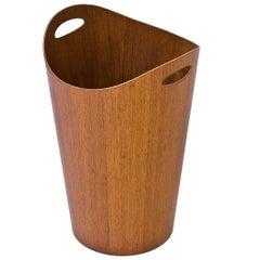 1950s Teak Paper Basket by Servex