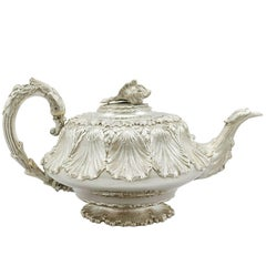 Antique George IV Sterling Silver Teapot by Charles Thomas Fox