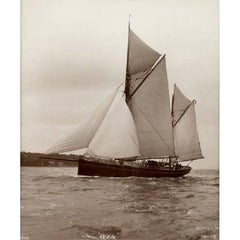 Early Silver Gelatin Photographic Print by Beken of Cowes, Yacht Revive