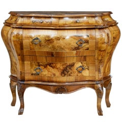 Early 20th Century Maltese Olivewood Bombe Commode