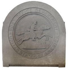 Carved Limestone Roundel from a Chicago Post Office
