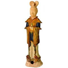 Terracotta Court Official, Tang San Cai Style Pottery Figure