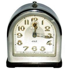 French Art Deco Chrome Clock by Jaz