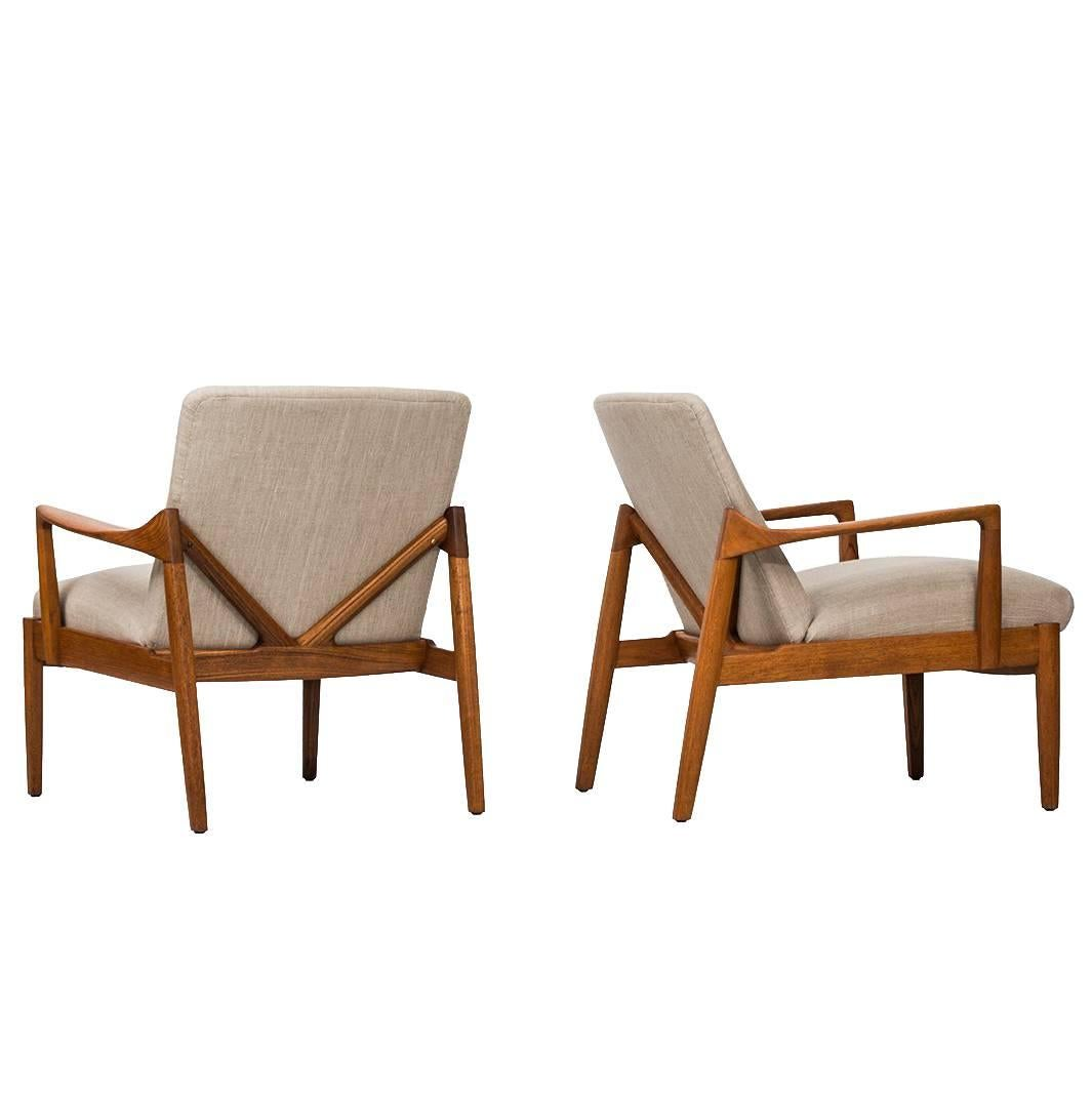 Tove U0026 Edvard Kindt Larsen Easy Chairs Model FD125 By France U0026 Son In  Denmark