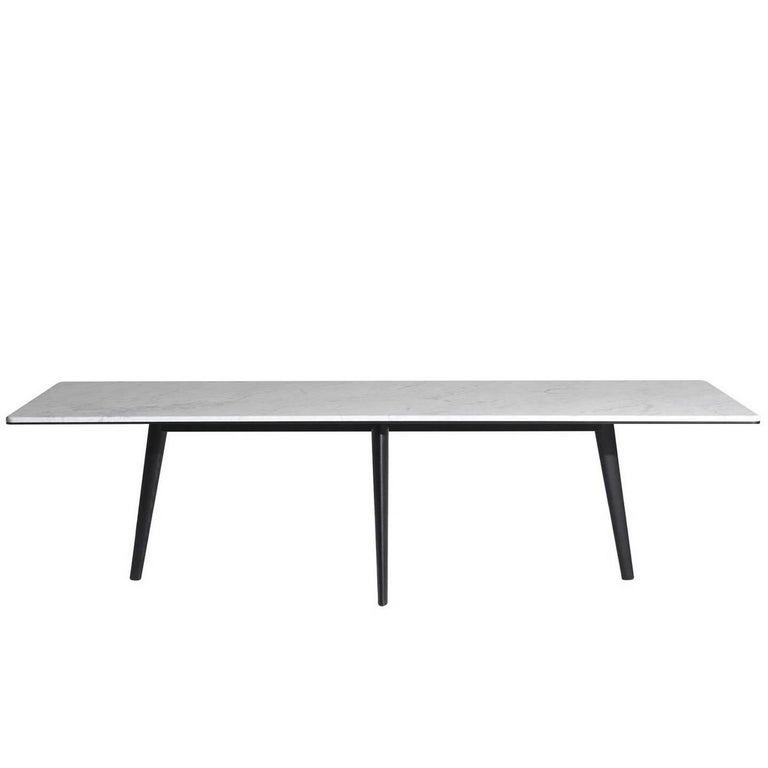"""François"" Table with Top in White Carrara Marble by Lievore Altherr for Driade For Sale"
