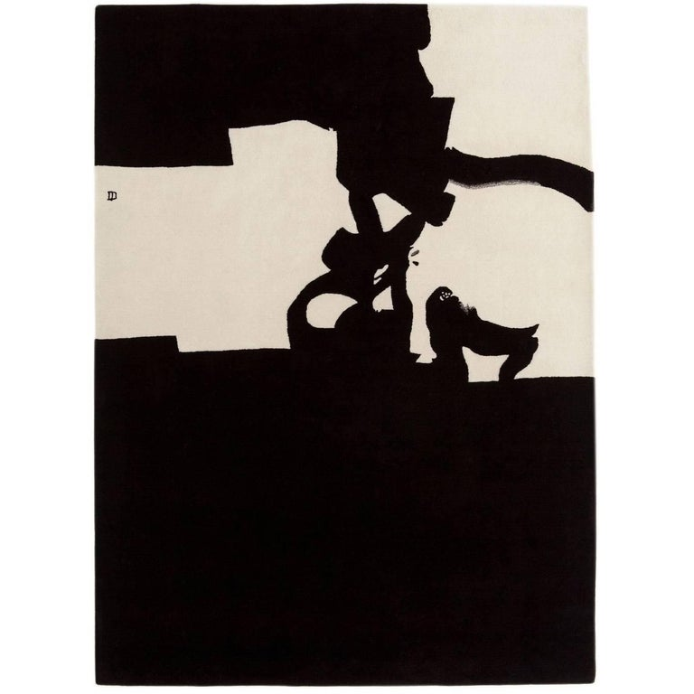 Collage 1966 Hand-Tufted Wool Area Rug by Eduardo Chillida For Sale