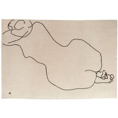 Figura Humana 1948 Hand-Knotted Wool Area Rug by Eduardo Chillida
